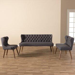 Katrina 3 Piece Living Room Set by Alcott Hill