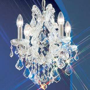 Classic Lighting Maria Thersea 4-Light Candle Style Chandelier