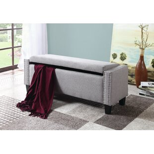 Dove Upholstered Storage Bench
