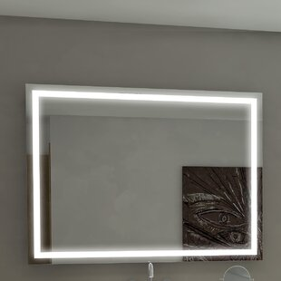 Compare prices Harmony Illuminated Bathroom/Vanity Wall Mirror By Paris Mirror