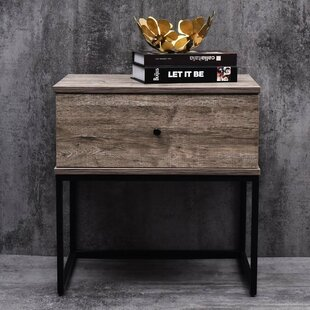 Union Rustic Parson Bedside 1 Drawer Nightstand