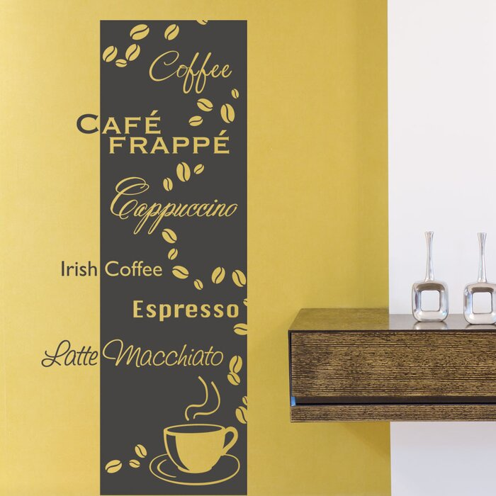 Coffee Types Wall Decal