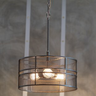 Wimbled 3-Light Drum Pendant by Williston Forge
