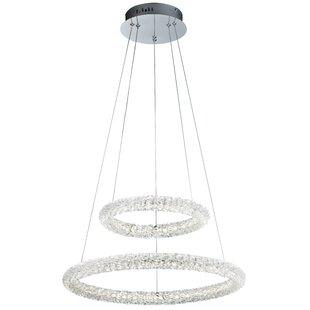 Orren Ellis Rinere 2-Light LED Crystal Chandelier