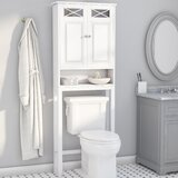 Roberts 25 W x 68 H  x 8 D Free-Standing Over The Toilet Storage by Rosecliff Heights