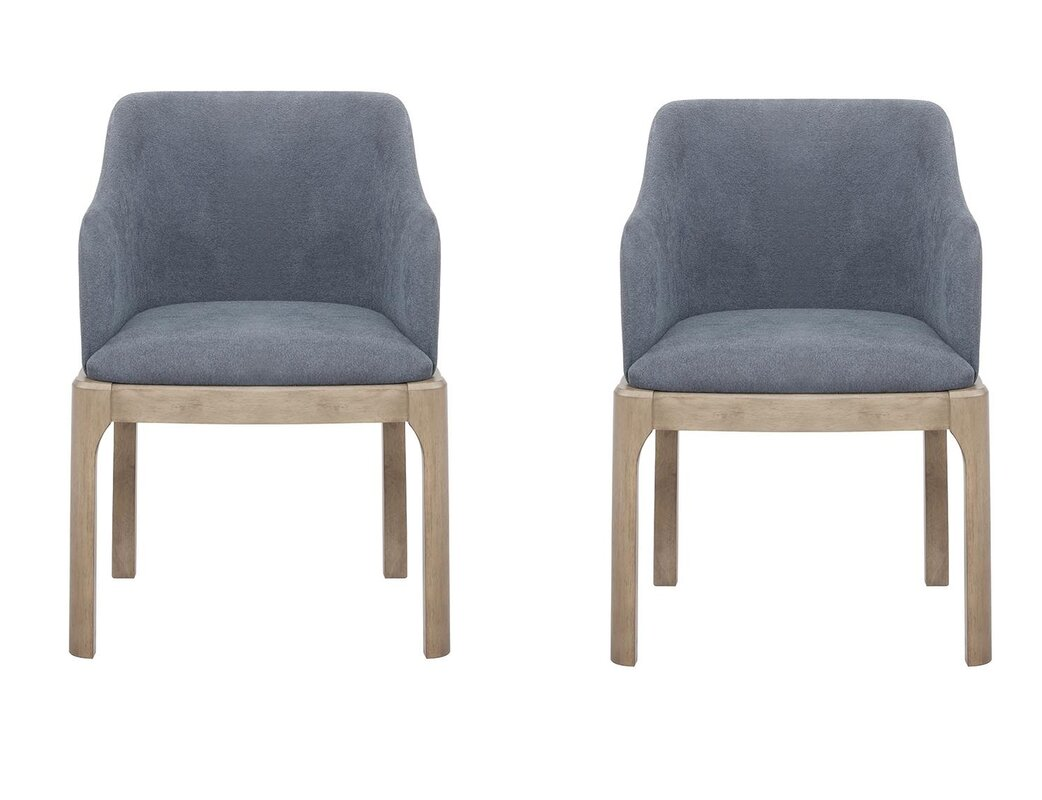 Brayden Studio Salvi Arm Chairs Denim Blue (Set Of 2) (Set of 2)