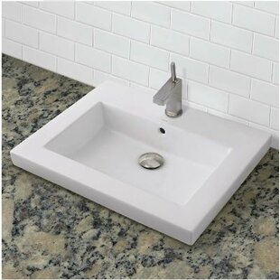 Top Reviews Chloe Classically Redefined Rectangular Vessel Bathroom Sink with Overflow By DECOLAV