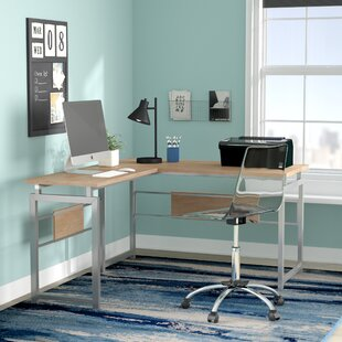 Tiano L Corner Desk with Metal Leg