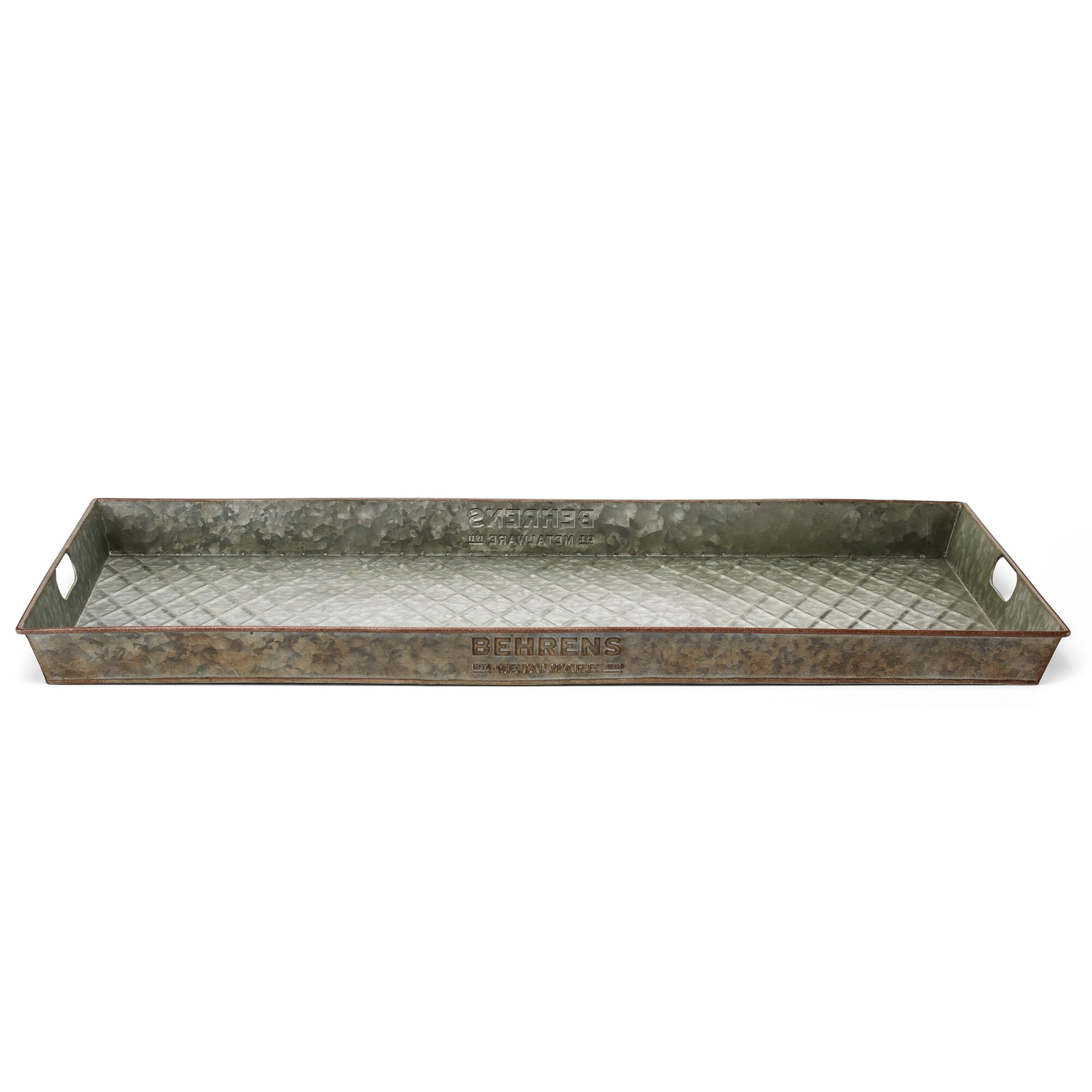 Picture of: Behrens Aged Galvanized 32 X 16 Indoor Outdoor Boot Tray Wayfair Ca