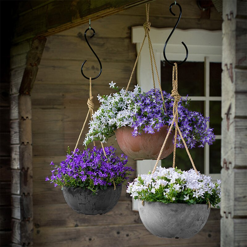Pollyanna Self-Watering Resin Hanging Planter