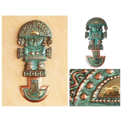 Novica Angel Franco Handcrafted Archaeological Bronze Copper Wall ...