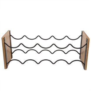 Bland Wired 9 Bottle Tabletop Wine Rack b..