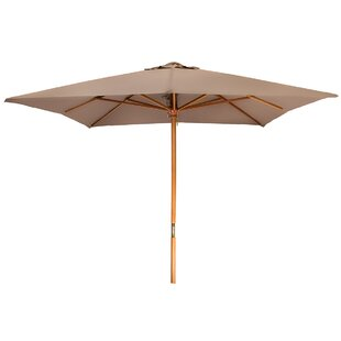 Areleen Wood Frame Patio 8' Square Market Umbrella