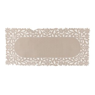 Kurth Florence Floral Cutwork Trimmed Edge Table Runner