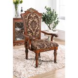 Chao Linen Arm Chair in Brown (Set of 2) by Astoria Grand