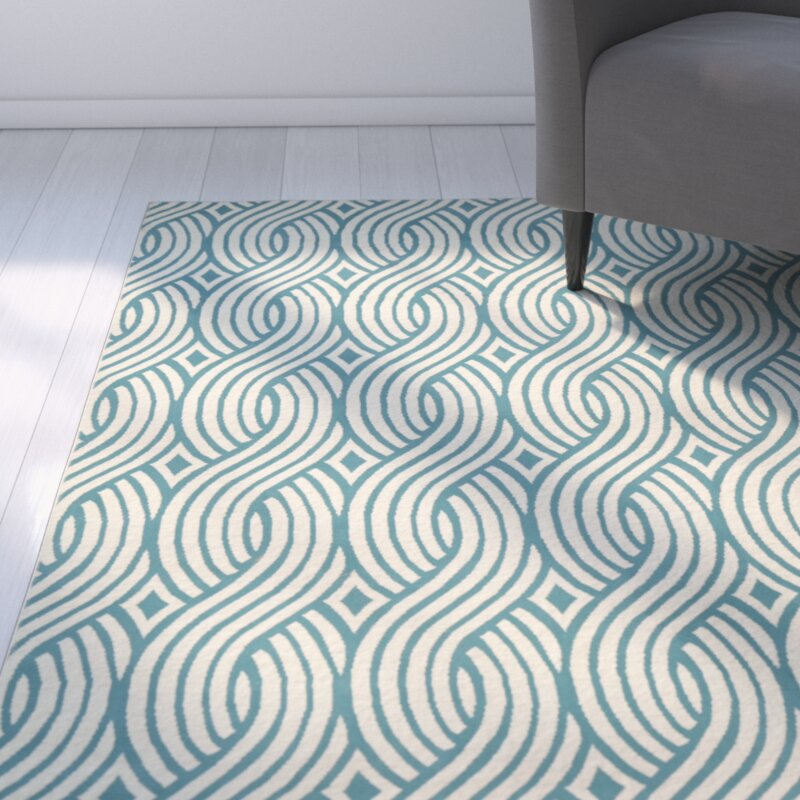 Zipcode Design Lucia Aqua/Gray Indoor/Outdoor Area Rug & Reviews ...