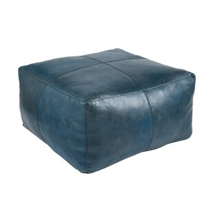 Chunn Leather Pouffe By Williston Forge