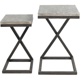 Kiara 2 Piece Nesting Tables by 17 Stories