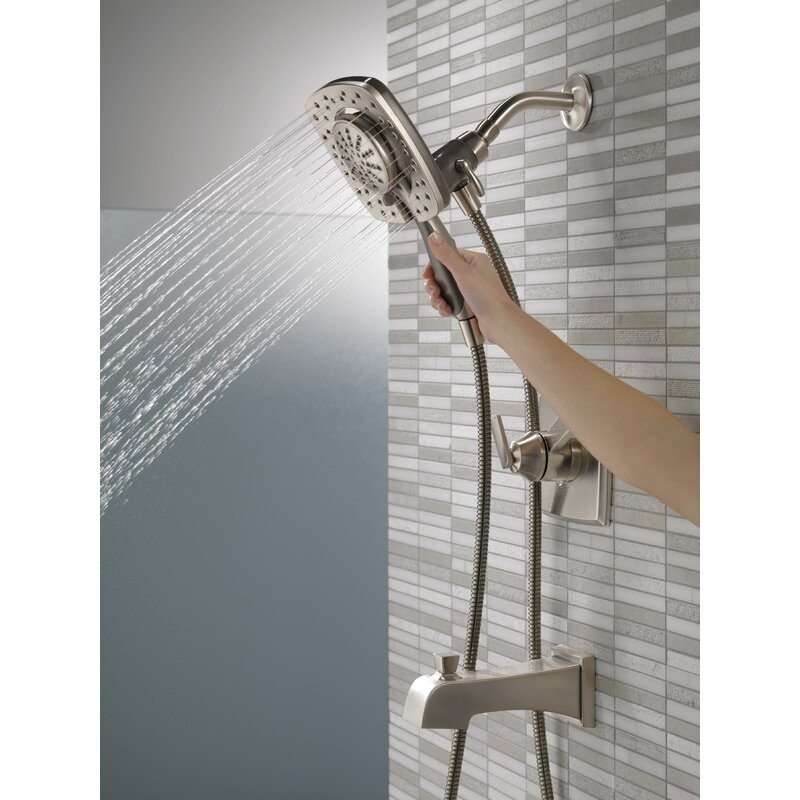 Ashlyn Pressure Balance Tub and Shower Faucet Trim Kit with In2ition ...