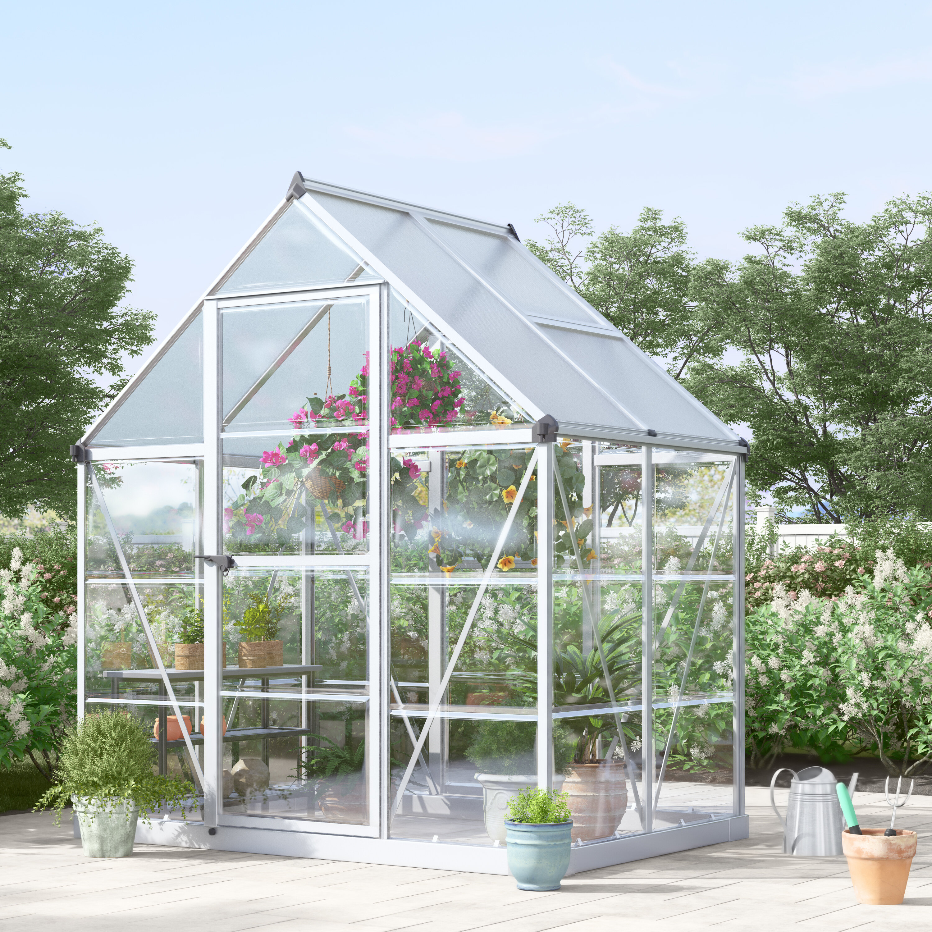 Palram Hybrid 6 Ft. W x 4.5 Ft. D Polycarbonate Greenhouse & Reviews on greenhouse heating methods, pvc greenhouse plans, mittleider greenhouse plans, diy greenhouse plans, greenhouse drawings, greenhouse house plans, greenhouse layout plans, commercial greenhouse plans, greenhouse as a house, home greenhouse plans, pit greenhouse plans, solar greenhouse plans, simple greenhouse plans, back yard greenhouse plans, homemade greenhouse plans, texas preppers greenhouse plans, cedar greenhouse plans, greenhouse supplies, greenhouse plans wood, small greenhouse plans,