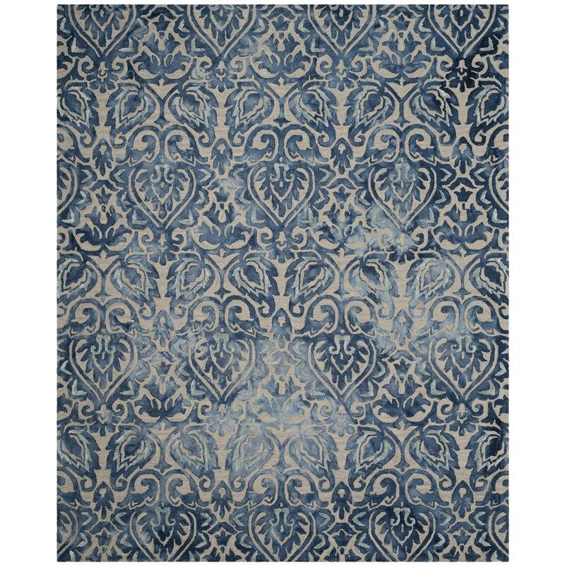 Ophelia Co Edmeston Hand Tufted Wool Royal Blue Area Rug Reviews Wayfair