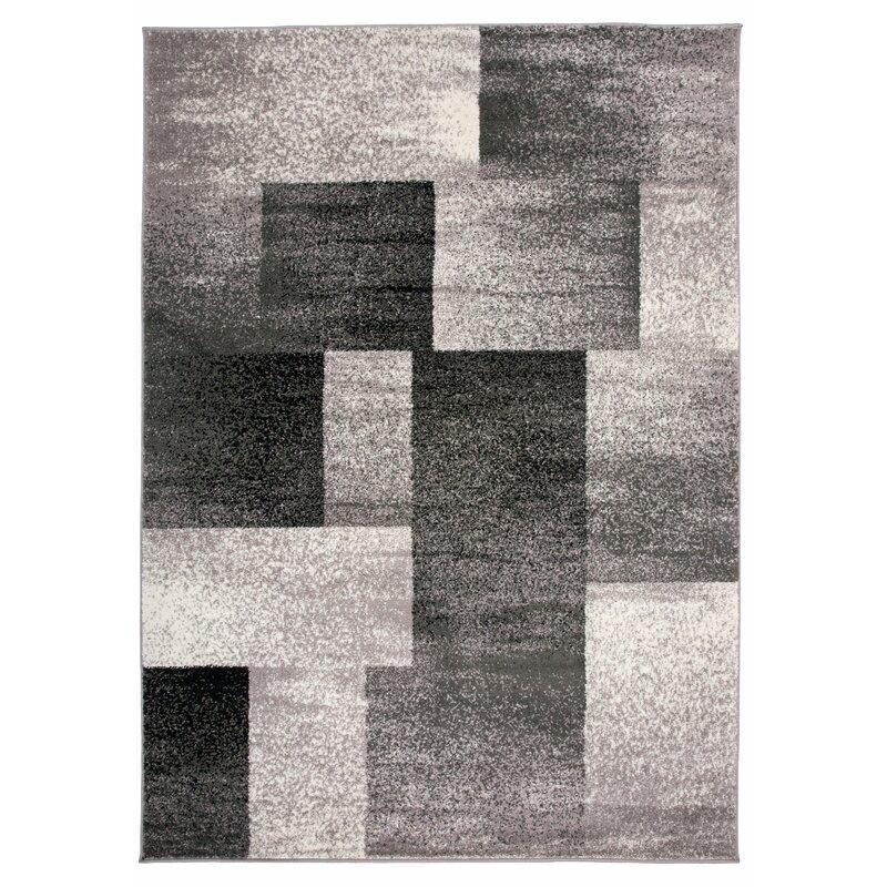 Orren Ellis Diantha Geometric Gray Area Rug Reviews Wayfair