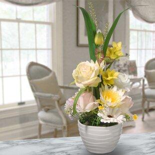 Mixed Floral Arrangement in Pot