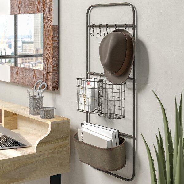 Trent Austin Design Brunella Wall Key Hooks Organizer With Wall Basket Reviews Wayfair
