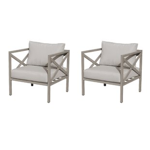 Carlisle Patio Chair with Cushions (Set of 2)