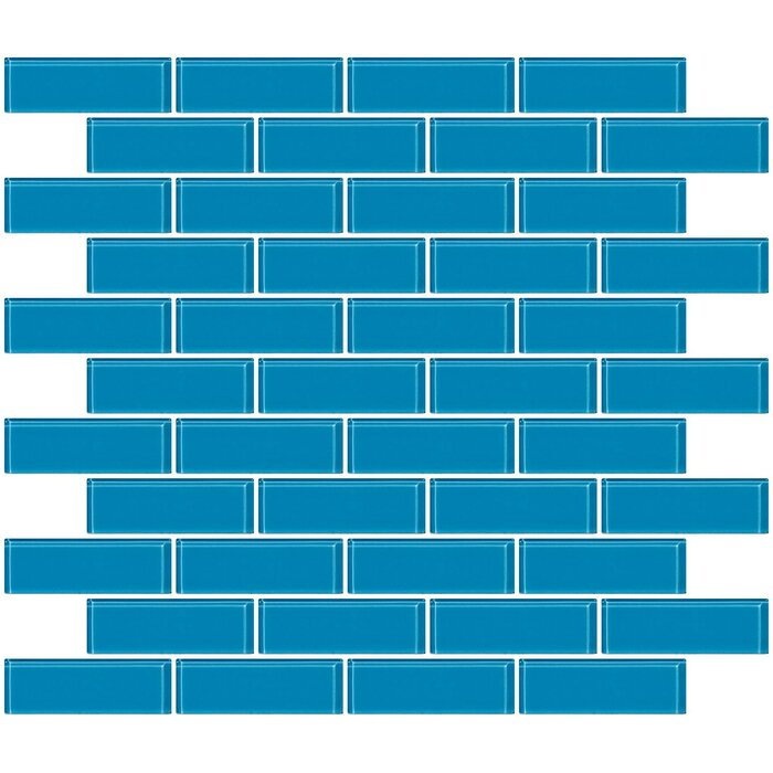 1 X 3 Gl Subway Tile In Glossy Turquoise Blue