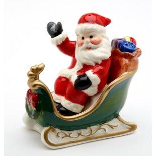 Santa with Sleigh Salt and Pepper Set