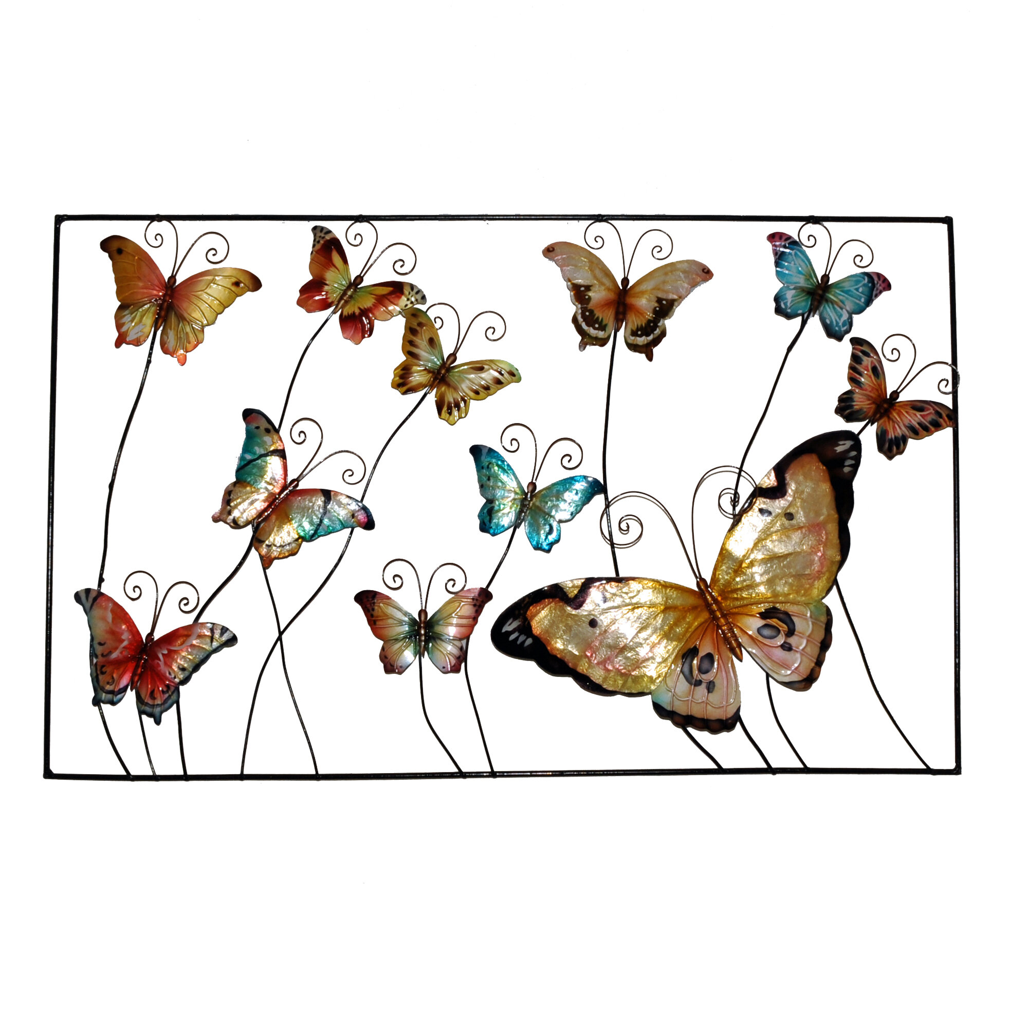 Eangee Home Design Framed Butterflies Wall Decor | Wayfair