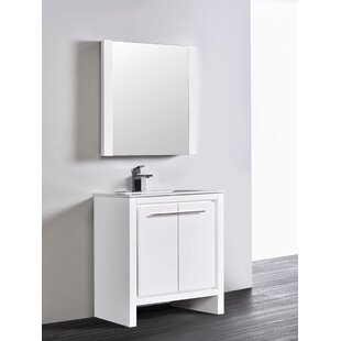 Affordable Artemis Modern 29 Single Bathroom Vanity Set with Mirror By Ivy Bronx