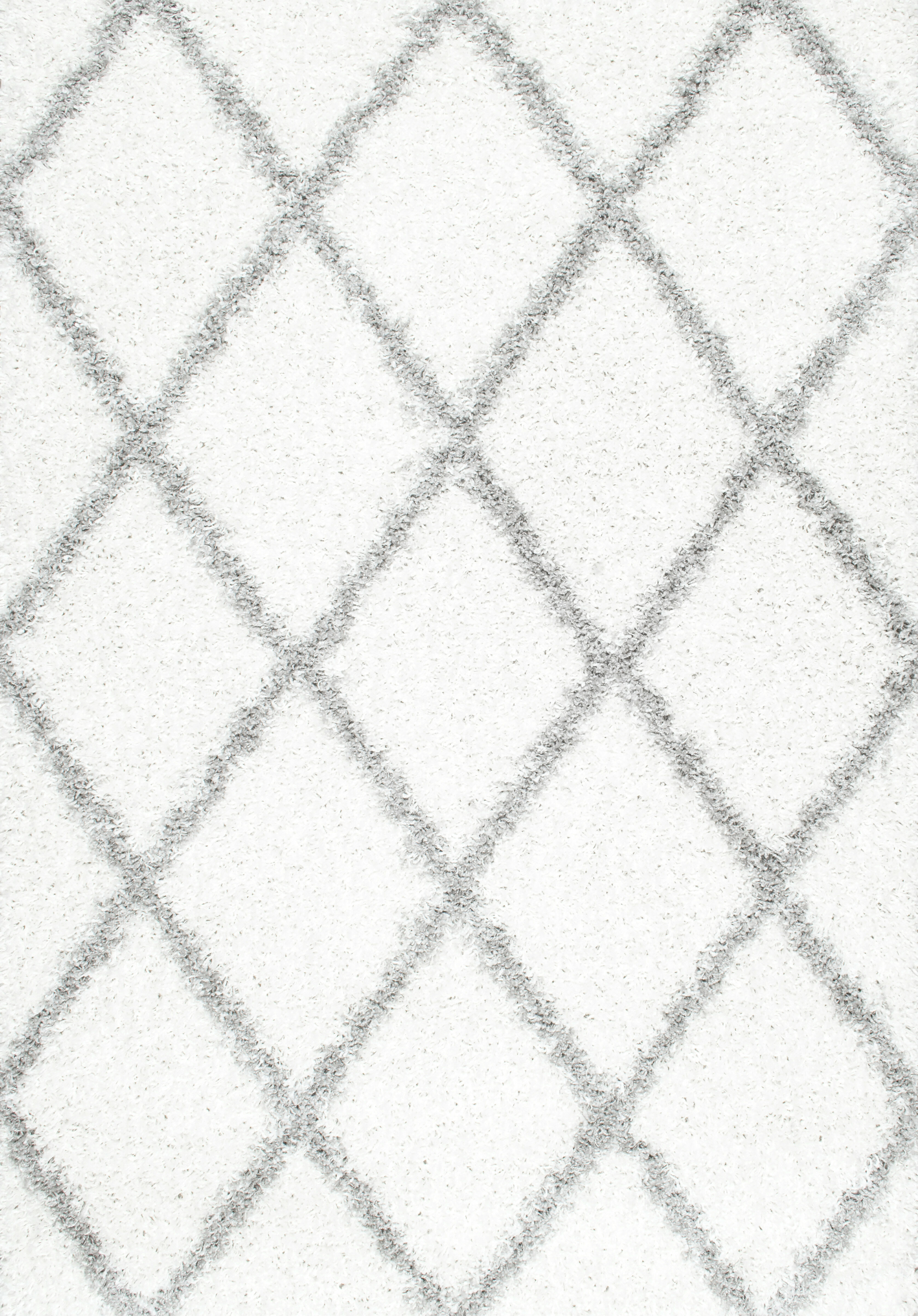 Mercury Row Colona Geometric Shag White Area Rug Reviews Wayfair