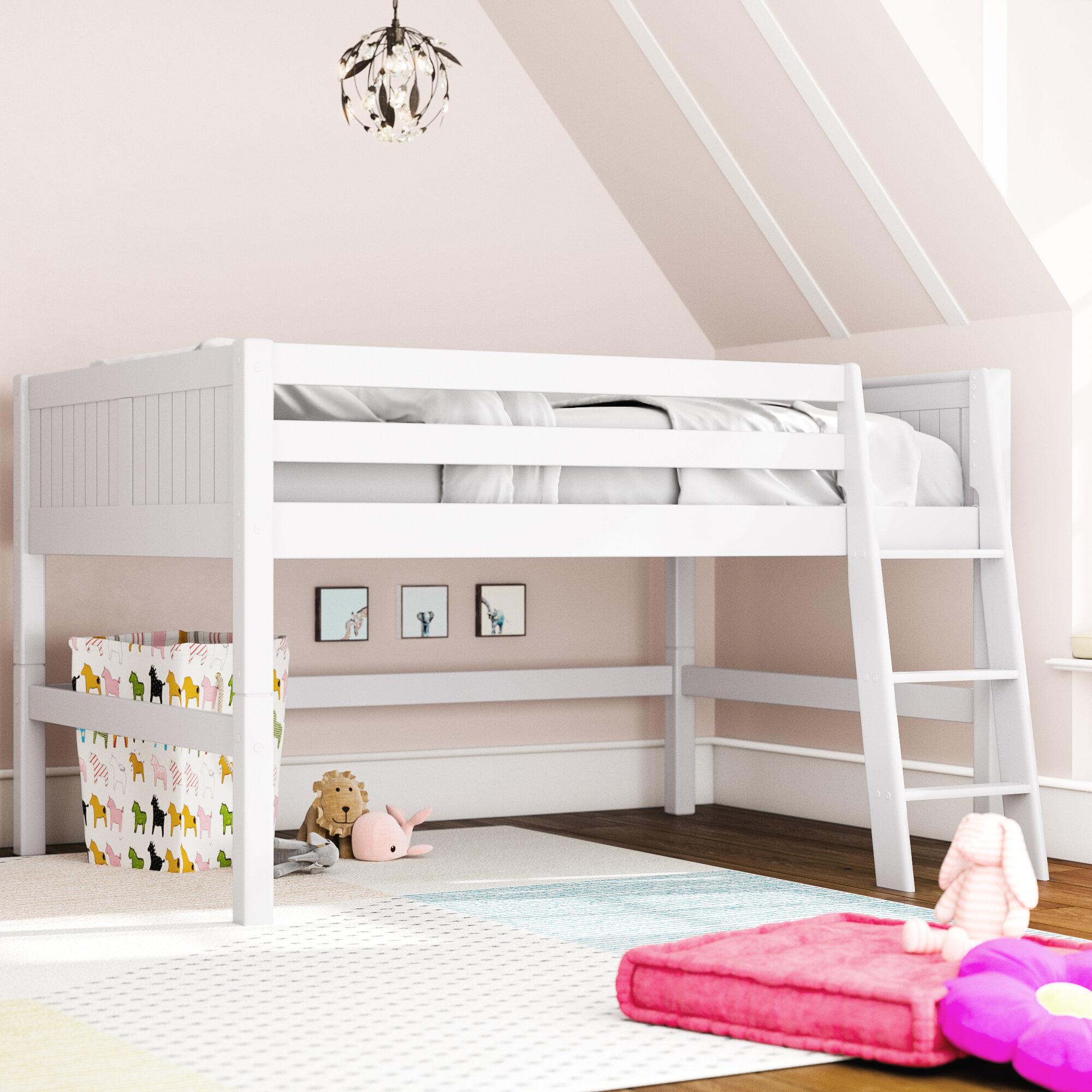 Picture of: Mack Milo Burkley Full Low Loft Bed Reviews