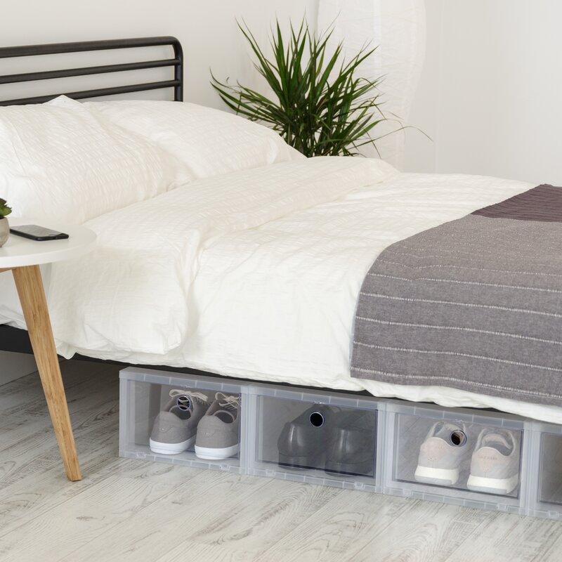 Wide Stackable Shoe Storage Box & IRIS Wide Stackable Shoe Storage Box u0026 Reviews | Wayfair