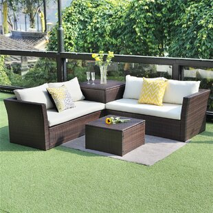Billie 4 Piece Sectional Seating Group with Cushions