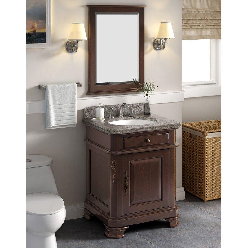 Lanza Perkin 28 Single Bathroom Vanity Set With Mirror Reviews Wayfair