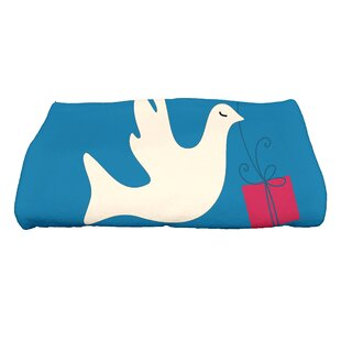 Dreiling Christmas Peace Dove Bath Towel