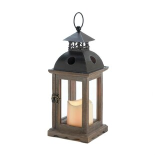 Reviews Wood Lantern By Breakwater Bay
