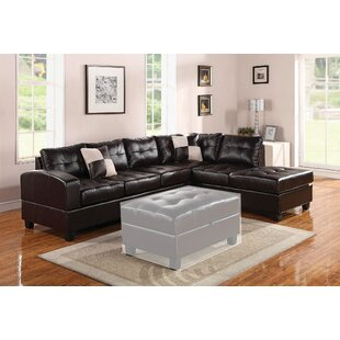 Gaertner Bonded Leather Reversible Sectional
