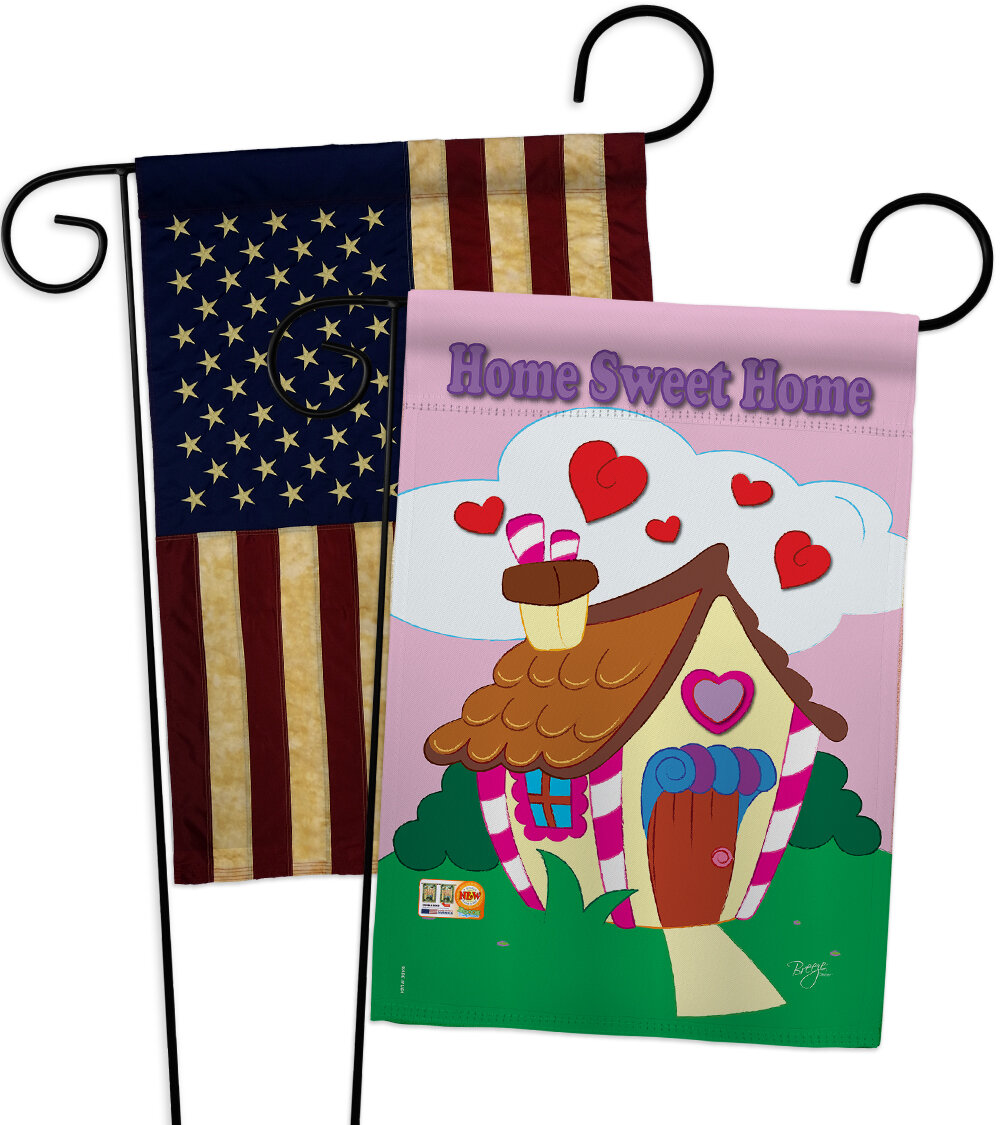 Breeze Decor Welcome Home Sweet Impressions Decorative 2 Sided Polyester 19 X 13 In 2 Piece Garden Flag Set Wayfair
