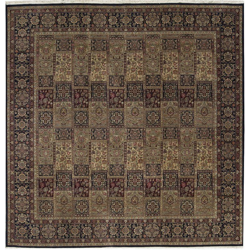 Bokara Rug Co., Inc. One-of-a-Kind Manchuria Hand-Knotted Square 10 Wool Brown Area Rug