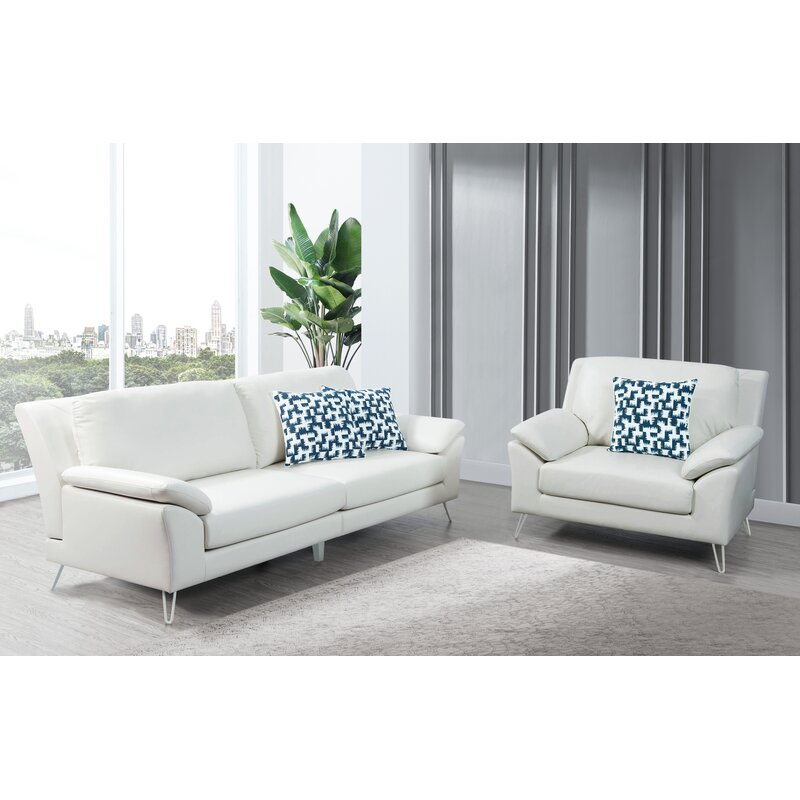Wrought Studio Lourenco 2 Piece Living Room Set