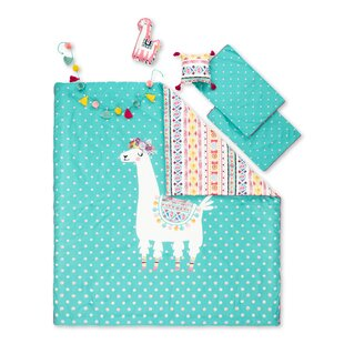 Dreamit Kids Festive Llama Reversible Comforter Set