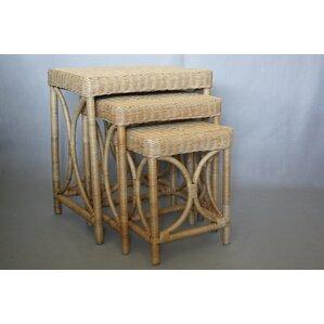 Svetlana Wicker 3 Piece Nesting Tables