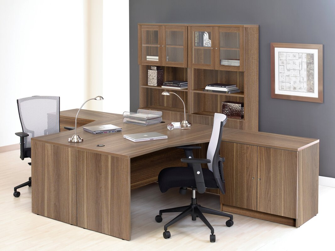 Pro X 6 Piece L Shaped Desk Office Suite