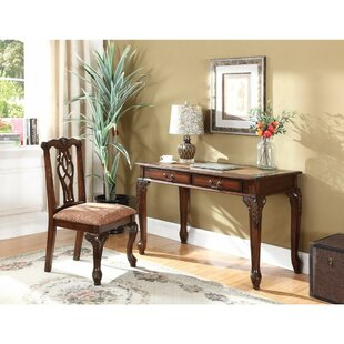 Filippo Wooden Carved Desk by Astoria Grand Coupon