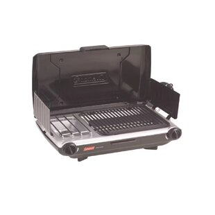 Coleman PerfectFlow Portable 2-Burner Propane Grill and Stove Combo