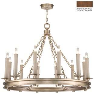 Fine Art Lamps Cienfuegos 12-Light Wagon Wheel Chandelier